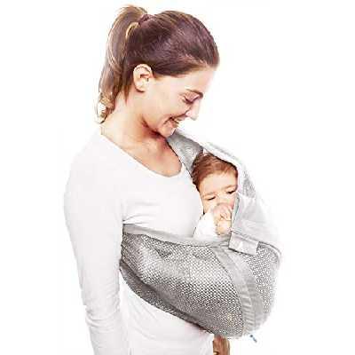 Wallaboo - WSA.0516.5229 - Porte-bébé - Connection Air - Pour nouveau-nés et bébés jusqu'à 15 kg - Argent