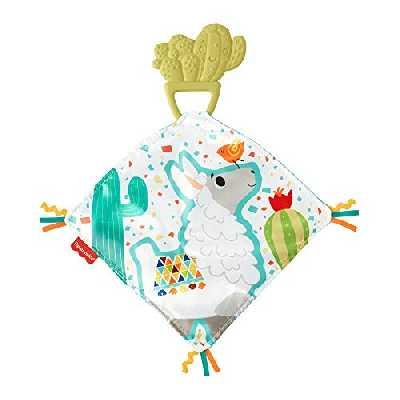 Fisher-Price Mon Doudou Cactus De Dentition, anneau de dentition en caoutchouc naturel avec carré de tissu doux, pour bébé, 3 mois et plus, GJD38