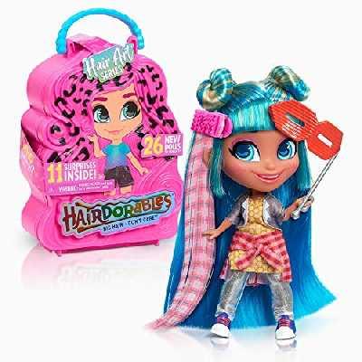 Hairdorables Hairdorables-HAA09000, (Serie 5) avec 11 Surprises, Hair Art, Cheveux à coiffer, Modèles aléatoires, 26 poupées à Collectionner, Jouet pour Enfant dès 3 and, HAA09, HAA09000, Multicolore