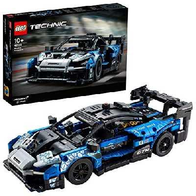 LEGO Technic 42123 McLaren Senna GTR Modèle de collection de voiture de sport de course, jeu de construction de véhicule