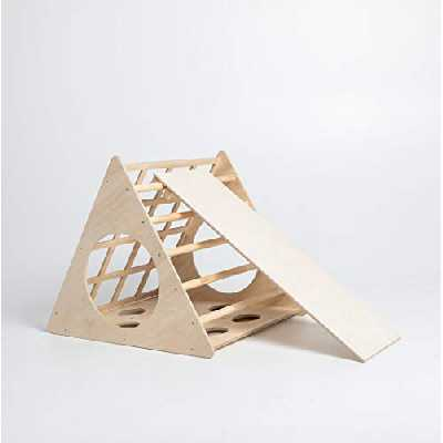 Sweet Home from wood Triangle Pikler Transformable Triangle, Step Triangle Escalade pour tout-petits Triangle d'escalade avec rampe Pikler dreieck (Avec rampe)