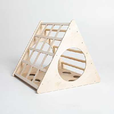 Sweet Home from wood Triangle Pikler Transformable Triangle, Step Triangle Escalade pour tout-petits Triangle d'escalade avec rampe Pikler dreieck (sans rampe)