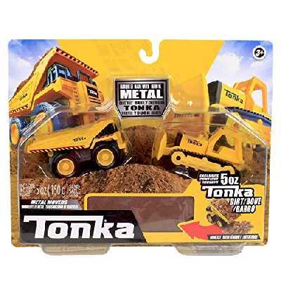 Tonka- Combo Pack-Dump Truck & Bull Dozer, 37425, Jaune