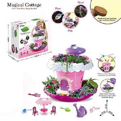 raspbery My Fairy Garden - Conte De Fées Petite Cottage Magique Jardin en Miniature Jeu Botanique pour Les Enfants?Jouets Et Kits De Science pour Enfants