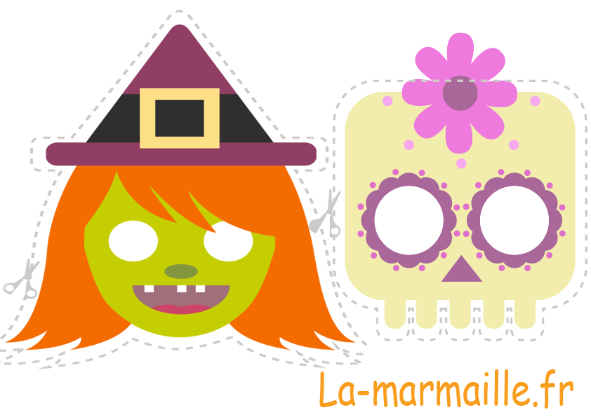 masque halloween fille