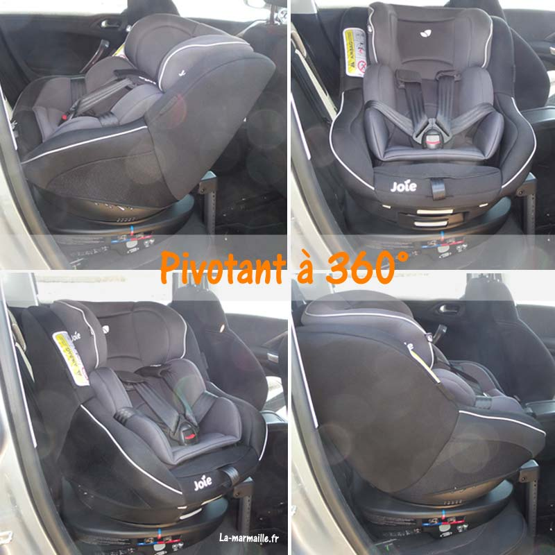 test du si ge auto pivotant isofix spin 360 de joie la marmaille. Black Bedroom Furniture Sets. Home Design Ideas