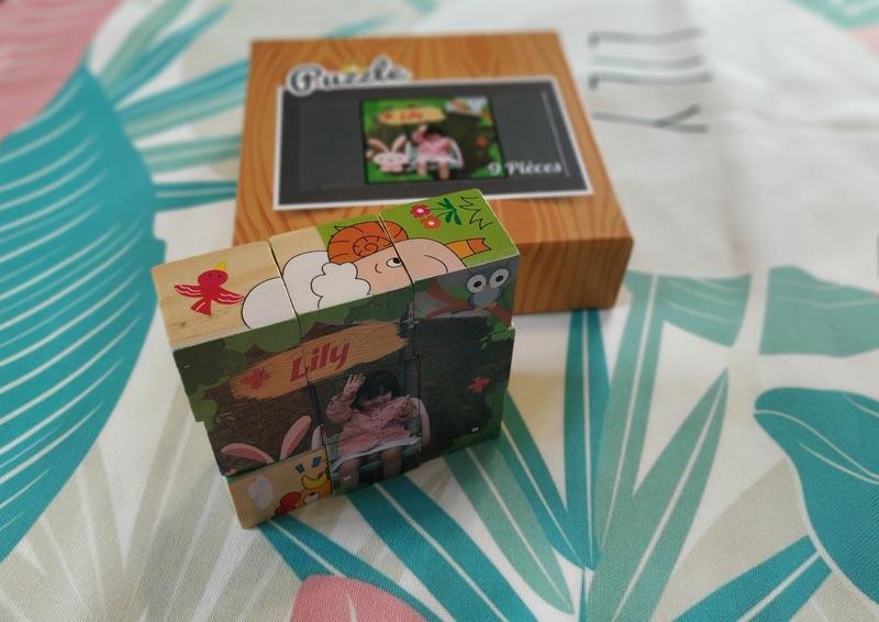 puzzle photo personnalisé en bois