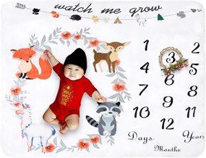 Le tapis photo bébé pour immortaliser la croissance de votre bébé
