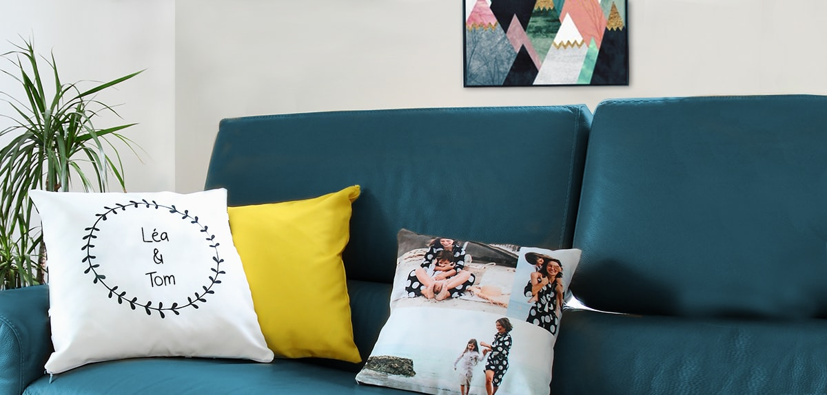 coussin personnalise