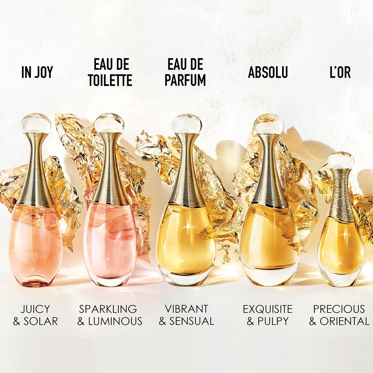 parfum j'adore de dior declinaison